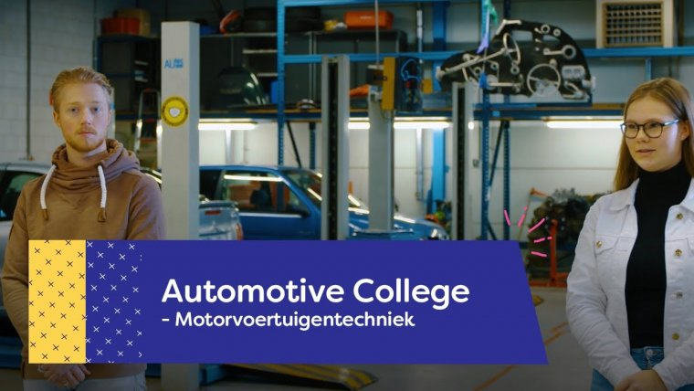 YouTube video - Studenten Janine en Roland over het Automotive College in Nieuwegein